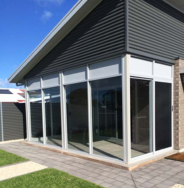 Residential Sliding Doors With Commercial Fixed Windows